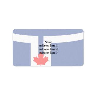 Toronto flag custom address labels