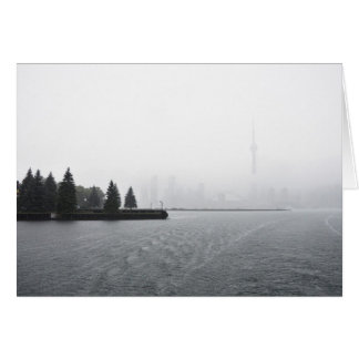 Toronto Harbour Skyline in the Rain Card