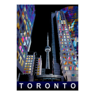 Toronto in graffiti poster