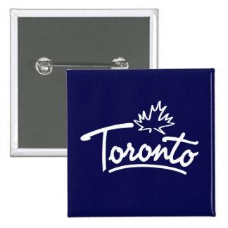 Toronto Leaf Script 2 Inch Square Button