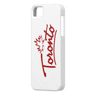 Toronto Leaf Script iPhone 5 Cases