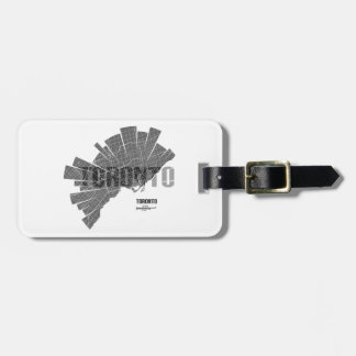 Toronto_Map Luggage Tag