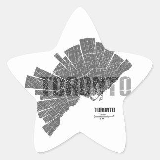 Toronto_Map Star Sticker