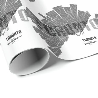 Toronto_Map Wrapping Paper