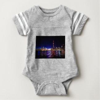 Toronto Night Skyline Baby Bodysuit