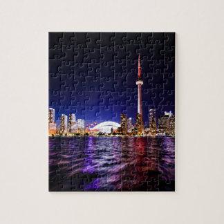 Toronto Night Skyline Jigsaw Puzzle
