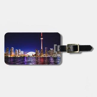 Toronto Night Skyline Luggage Tag