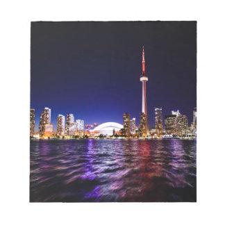 Toronto Night Skyline Notepad