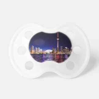 Toronto Night Skyline Pacifier