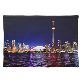 Toronto Night Skyline Placemat