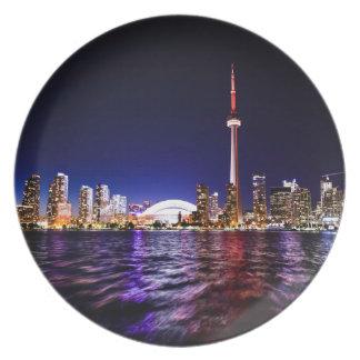Toronto Night Skyline Plate