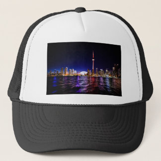Toronto Night Skyline Trucker Hat