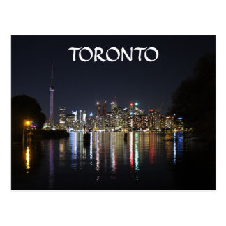 Toronto Night View from Toronto Island Postcard