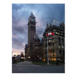 Toronto Old City Hall at Dusk Postcard