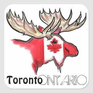Toronto Ontario Canada local flag elk stickers