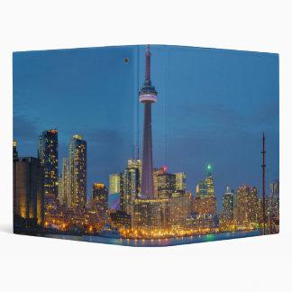 Toronto Ontario Canada Skyline At Night 3 Ring Binder