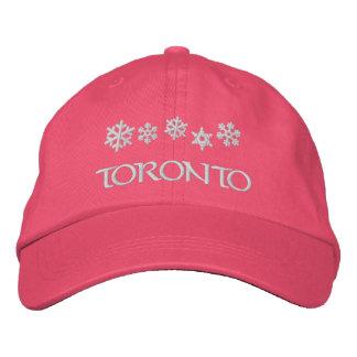 Toronto Ontario Canada Snowflake Hat Embroidered Hat