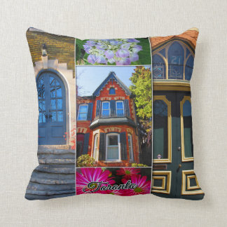 Toronto Ontario Images – Victorian Archiecture Throw Pillow