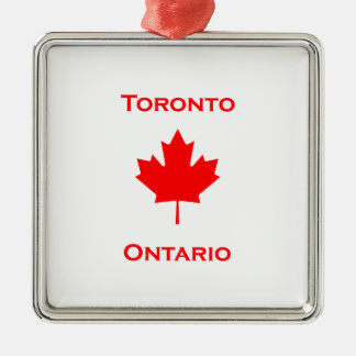 Toronto Ontario Maple Leaf Metal Ornament
