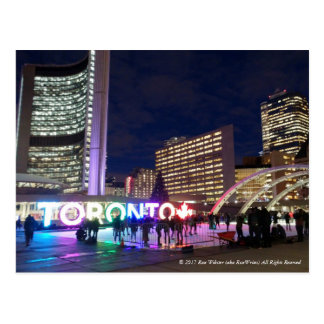 Toronto Pan Am Sign & Maple Leaf by RoseWrites Postcard