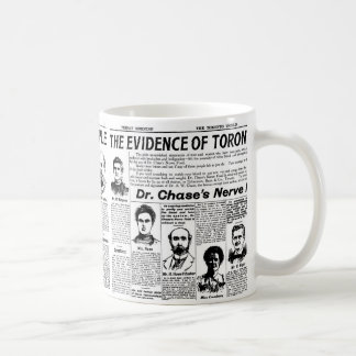 Toronto people vintage newspaper coffee mug