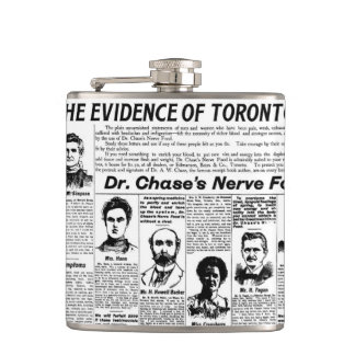 Toronto people vintage newspaper flasks
