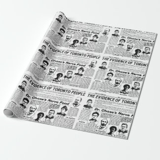 Toronto people vintage newspaper gift paper