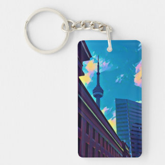 TORONTO - Rectangle (double-sided) Keychain