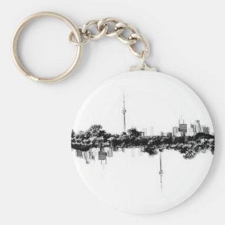 Toronto Reflection Basic Round Button Keychain
