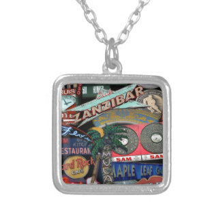 Toronto Signs Silver Plated Necklace