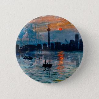 Toronto Skyline40 2 Inch Round Button