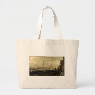 Toronto Skyline 41 Large Tote Bag