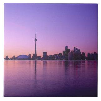 Toronto Skyline at night, Ontario, Canada Tiles