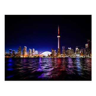 Toronto Skyline at Night Postcard