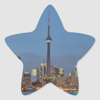 Toronto Skyline at night Star Sticker