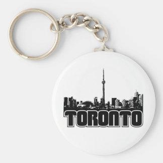 Toronto Skyline Basic Round Button Keychain