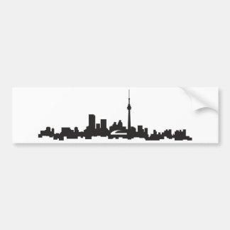 Toronto skyline bumper sticker