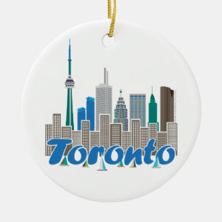 Toronto Skyline Ceramic Ornament