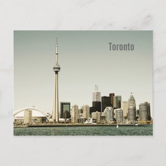 Toronto skyline postcard postcard