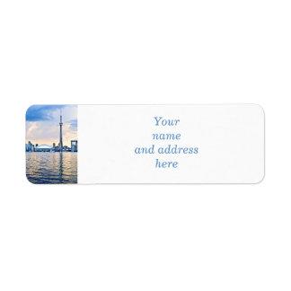 Toronto skyline return address label