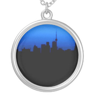Toronto Skyline Silver Plated Necklace