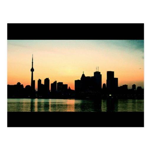 Toronto Sunset Postcards