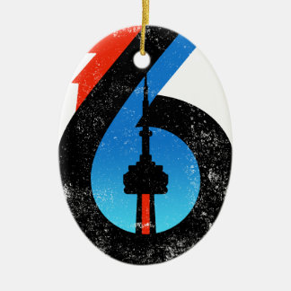 Toronto The Six Ceramic Ornament