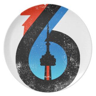 Toronto The Six Plate