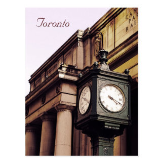 Toronto Union Station clock Postcard