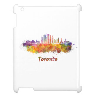 Toronto V2 skyline in watercolor Cover For The iPad