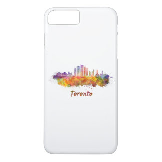 Toronto V2 skyline in watercolor iPhone 8 Plus/7 Plus Case