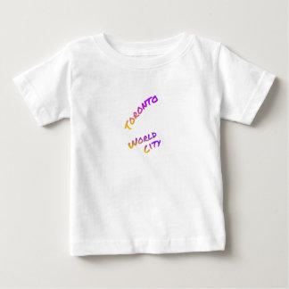 Toronto world city, colorful text art baby T-Shirt