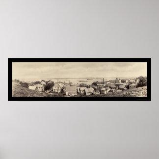 Torpedo Boats Eastport Photo 1916 Poster