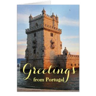 Torre de Belém - Belem Tower portugal Card